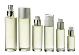 flacon en verre parfum cosmetique
